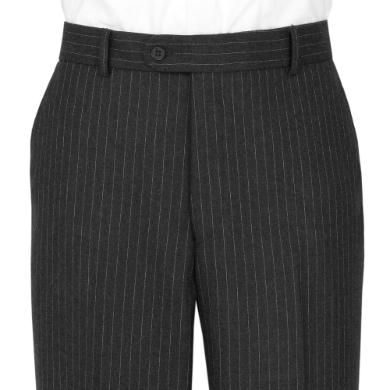 Charcoal Pin Stripe Trousers