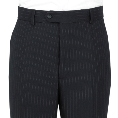 Navy Pin Stripe Trousers