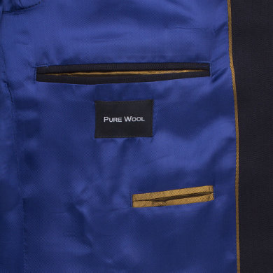 Navy Self Stripe Suit